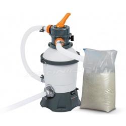 Pompa piaskowa do basenów ogrodowych 3028l/h Bestway 58515 + 25kg piasku