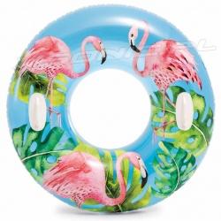 Koło do pływania z uchwytami 97 cm dla większych dzieci INTEX 58263
