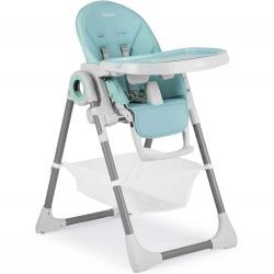 Krzesełko do karmienia ze stolikiem dla dzieci Belo leżaczek na kółkach z koszykiem