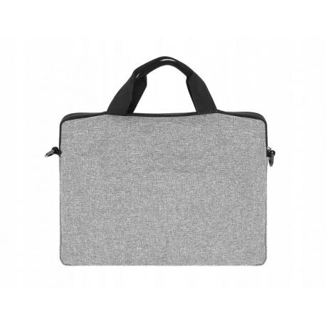 Szara torba na laptopa na ramię pokrowiec teczka pasek 12-14 cala