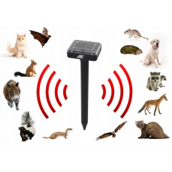 Solarny odstraszacz kretów na gryzonie kotów kun myszy 2 sztuki
