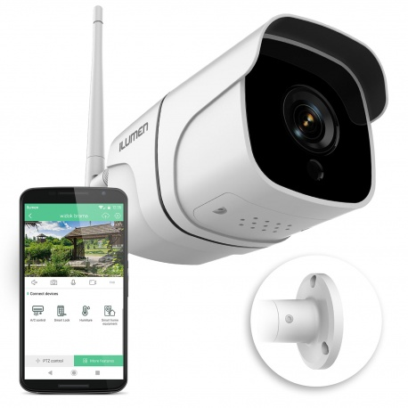 Zewnętrzna kamera WiFi monitoring FULL HD tryb nocy detekcja ruchu mikrofon głośnik