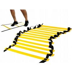 Drabinka treningowa koordynacyjna do ćwiczeń 6 metrów torba w zestawie