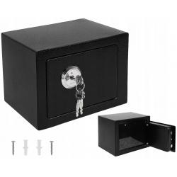 Sejf domowy skrytka kasetka mocny solidny na klucz przykręcany do ściany