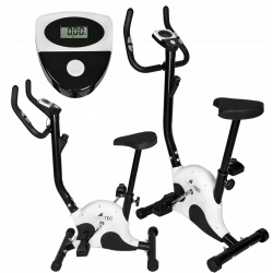 Rower treningowy stacjonarny mechaniczny pulsometr kalorie prędkość