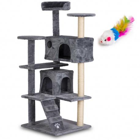 Domek legowisko drapak dla kota wysokość 130 cm platformy domki myszka do zabawy
