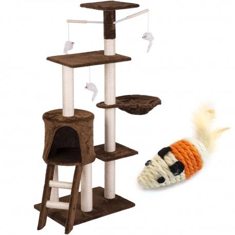 Domek legowisko drapak dla kota wysokość 140 cm platformy domki myszka do zabawy