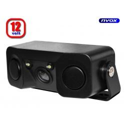 Kamera cofania z wbudowanymi czujnikami parkowania CM40SP diody LED 2 czujniki parkowania