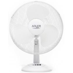 Wentylator biurkowy biały 3 prędkości średnica 40cm Adler AD 7304