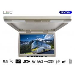Monitor podwieszany 19cali LED True Bright odtwarzacz plików SD USB IR FM