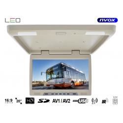 Monitor podwieszany z matrycą LED typu True Bright o przekątnej 20 cali multimedialny odtwarzacz plików złącze SD USB IR