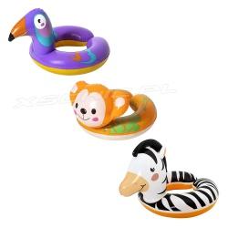 Koło dla dzieci Zwierzaki zebra tukan małpka Bestway 36112