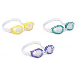 Okulary do pływania Play różne kolory dla dzieci od 8 roku INTEX 55602