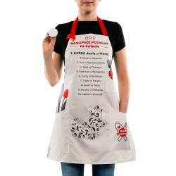 Fartuszek Szefa Kuchni dla Mamy sukienka wysoka jakosć stemple do ciasta
