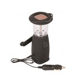 Lampa turystyczna solarna LED na korbkę z dynamem 3 sposoby ładowania