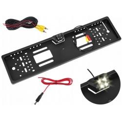 Kamera cofania w ramka tablicy rejestracyjnej siatka odległości diody LED