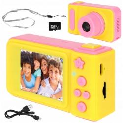 Aparat cyfrowy dla dzieci kamera ekran smycz karta pamięci SD gierka