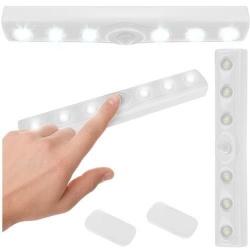 Lampka LED listwa czujnik ruchu i zmierzchu na baterie doświetlająca samoprzylepna