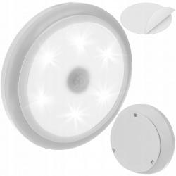 Lampka nocna LED czujnik ruchu i zmierzchu na baterie doświetlająca samoprzylepna