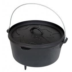 Kociołek żeliwny garnek do gotowania na ognisku pojemność 7,1l