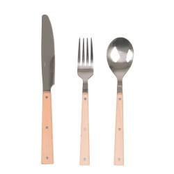 Sztućce w stylu Vintage metal drewno 6 sztuk widelec nóż łyżka