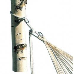 Mocowanie do hamaków ogrodowych zestaw liny i haki wytrzymałość do 160 kg  Bo-Camp