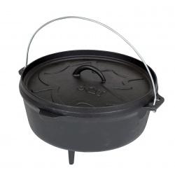 Kociołek żeliwny garnek do gotowania na ognisku pojemność 5L