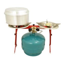 Kuchenka gazowa duża podwójna dwa palniki na butlę z gazem duża