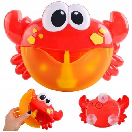 Zabawka do robienia piany do kąpieli wanny kąpielowa krab z melodyjkami