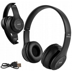 Słuchawki bezprzewodowe z mikrofonem składane Bluetooth Radio FM karty pamięci
