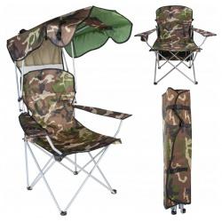 Składane krzesło wędkarskie z daszkiem fotel na ryby mocowany do podłoża