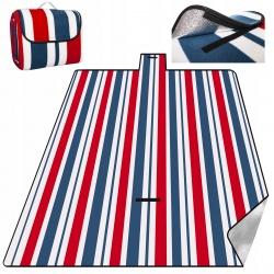 Mata turystyczna piknikowa koc z izolacją 220 x 200 cm polarowy na piknik