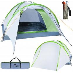 Czteroosobowy namiot turystyczny z przestronnym przedsionkiem wodoodporny