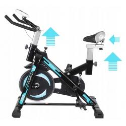Rower spiningowy treningowy stacjonarny z regulacją wysokości komputer