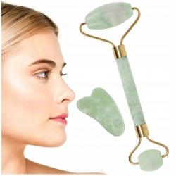 Masażer do twarzy z jadeitu wałek roller jadeitowy kamień młodości