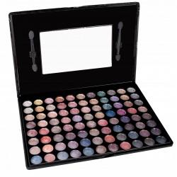 Paleta brokatowych cieni do makijażu powiek 88 kolorów pudełko lusterko