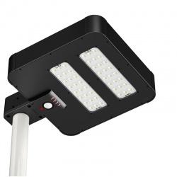 Solarna lampa uliczna LED z czujnikiem ruchu panel słoneczny 24W ogrodowa oświetlenie alejki czujnik zmierzchowy PowerNeed