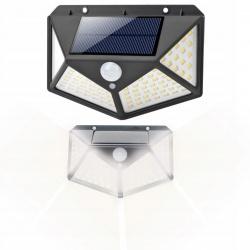 Lampa solarna ścienna świeci na bok 100 LED czujnik ruchu zmierzchu