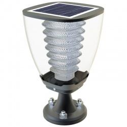 Stojąca lampa solarna LED ogrodowa mała do przykręcenia Power Need panel słoneczny