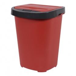 Kosz na śmieci do sortowania 40L antracyt z zamykaną pokrywą