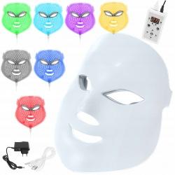 Maska LED na twarz terapia fotonowa 7 kolorów profesjonalna fototerapia
