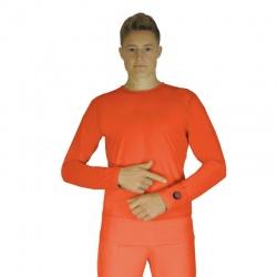 Ogrzewana koszulka 3 tryby grzania GJ1R GLOVii grzejąca bluza pomarańczowa