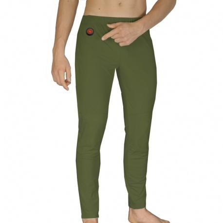 Spodnie ogrzewane zielone akumulator grzejące S/M/L/XL GP1C GLOVii
