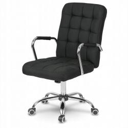 Fotel biurowy na kółkach materiałowy plecionka szary czarny niebieski różowy