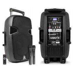 Kolumna mobilna Vonyx SPJ-PA912 nagłośnienie przenośne tuner radiowy Bluetooth