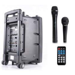 Przenośna kolumna z odtwarzaczem mobilne nagłośnienie Bluetooth Ibiza Sound PORT10VHF-BT