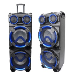 Mobilna kolumna z LED Ibiza STANDUP-DJ-MKII akumulator mikrofon i pilot