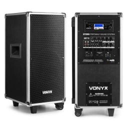 Mobilny zestaw nagłośnieniowy GŁOŚNIK 8'' kolumna multimedialna Vonyx ST095