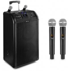 Kolumna mobilna głośnik 2 x 8'' SD/USB/MP3/BT PD PA300 mikrofony bezprzewodowe