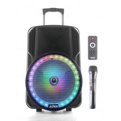 Kolumna mobilna nagłośnienie przenośne Party PARTY-12 z oświetleniem LED głośnik 30cm